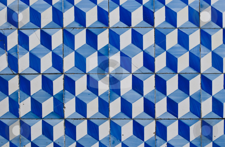 Portuguese glazed tiles 180 stock photo, Detail of Portuguese glazed tiles. by Homydesign