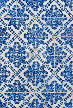 Portuguese glazed tiles 177 stock photo, Detail of Portuguese glazed tiles. by Homydesign
