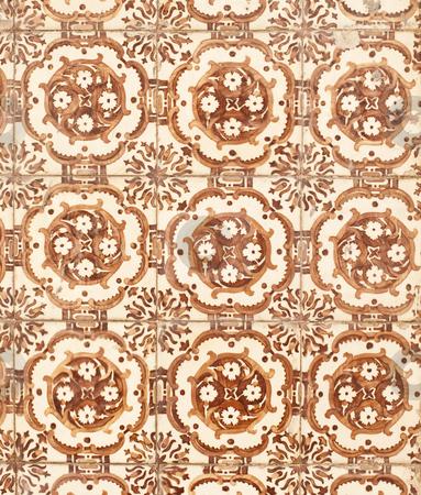 Portuguese glazed tiles 183 stock photo, Detail of Portuguese glazed tiles. by Homydesign