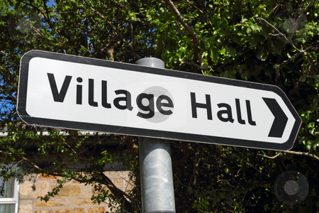 A Village hall sign. stock photo, A Village hall sign. by Stephen Rees
