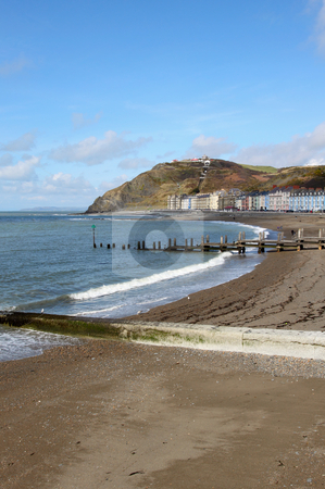 Aberystwyth seaside town North beach in Wales UK. stock photo, Aberystwyth seaside town North beach in Wales UK. by Stephen Rees