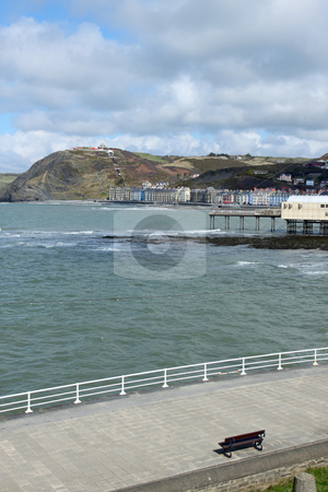 Aberystwyth seaside town in Wales UK. stock photo, Aberystwyth seaside town in Wales UK. by Stephen Rees