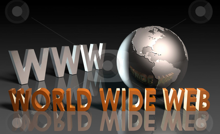 World Wide Web stock photo, WWW World Wide Web 3d as Concept by Kheng Ho Toh