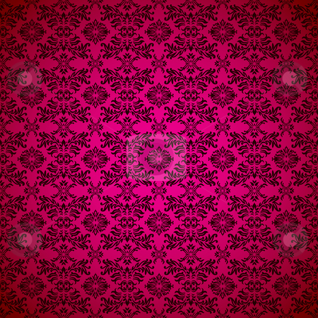 Gothic seamless pink wallpaper stock vector clipart, Pink seamless wallpaper abstract design background by Michael Travers