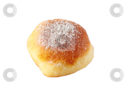Doughnut isolated on white background stock photo, Homemade doughnut isolated on white background by Artush