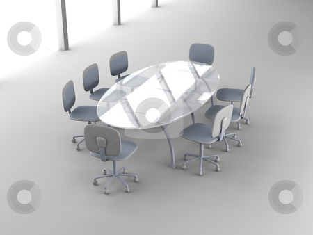 Board room stock photo, 3D rendered Boardroom. by Michael Osterrieder