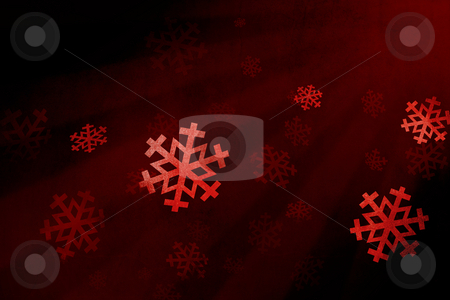 Snow flake red stock photo, Red clip art snow by Giordano Aita