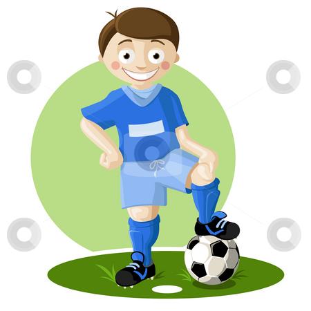 Soccer player stock photo, Soccer player boy style cartoon by Giordano Aita