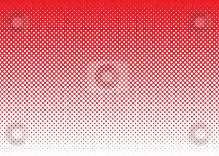 Halftone abstract background red stock vector clipart, Red background with white halftone dot gradient concept by Michael Travers