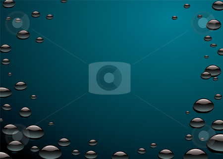 Oil slick water surface stock vector clipart, Water surface with oil slick pollution with water droplets by Michael Travers