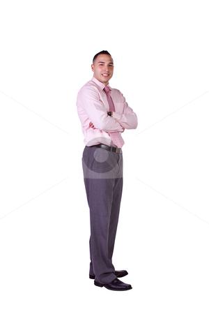Handsome Hispanic Businessman stock photo, Isolated Image of a Handsome Hispanic Businessman - White Background by Mehmet Dilsiz
