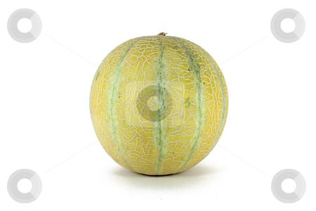 Sweet baby melon stock photo, Sweet ripe baby melon, isolated on white by Borislav Marinic