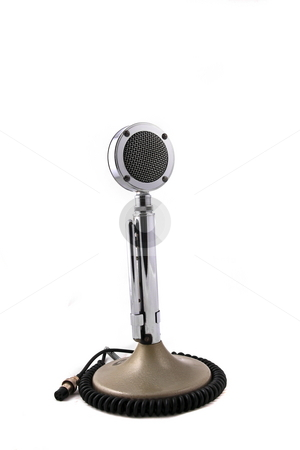 Old Fashion Microphone stock photo, Old fashoin CB or ham radio microphone by Jack Schiffer