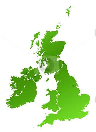 United Kingdom map stock photo, United Kingdom and Ireland map, isolated on white background. by Martin Crowdy