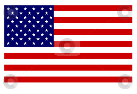 American flag stock photo, American flag isolated on white background. by Martin Crowdy