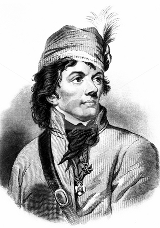 Thaddeus Kosciuszko engraving stock photo, Engraving of Polish hero Thaddeus Kosciuszko dring American Revolutionary war.  1822 copy of engraving by H.B. Hall after Joseph Grassi, (George Washington Bicentennia Commission). Public domain image by virtue of a by Martin Crowdy