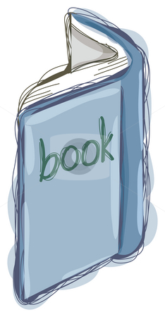 Book stock photo, A blue book isolate in a white background by Su Li