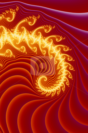 Implosion stock photo, 3D Illustration. Spiral fractal form. by Michael Osterrieder
