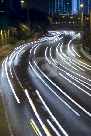 The night way stock photo, Ayalon freeway by Dmitry Pistrov