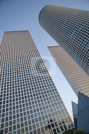 Modern office building stock photo, Skyscrapers, Tel-Aviv, Israel by Dmitry Pistrov