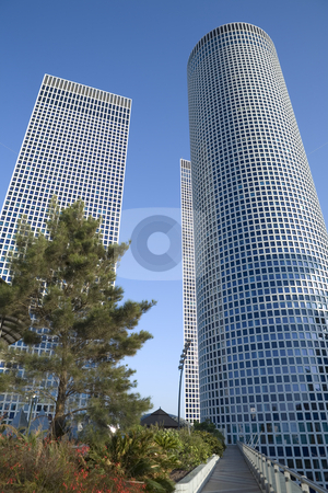 Skyscrapers stock photo, Modern office building, Tel-Aviv, Israel by Dmitry Pistrov