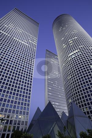 Skyscrapers stock photo, Modern office building, Tel-Aviv, Israel by Dmitry Pistrov