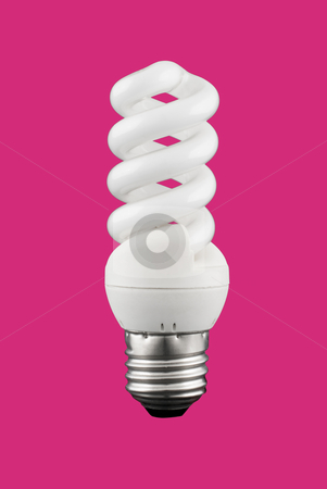 Light bulb stock photo, A light bulb isolated on a solid color background. by Homydesign