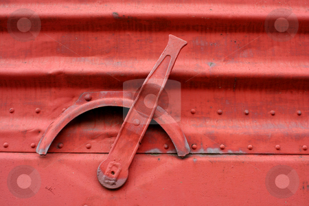 Handle on the side of a train boxcar stock photo, A Handle on the side of a train boxcar by Jim Mills