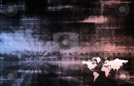 Digital Network stock photo, Tech Digital Data Transfer Network as Abstract by Kheng Ho Toh