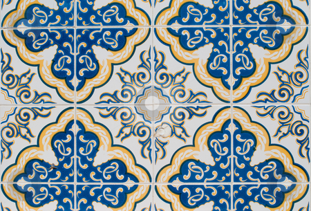 Portuguese glazed tiles 219 stock photo, Detail of Portuguese glazed tiles. by Homydesign