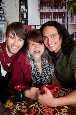 Plutonic stock photo, A plutonic love triangle at a coffee house by Scott Griessel