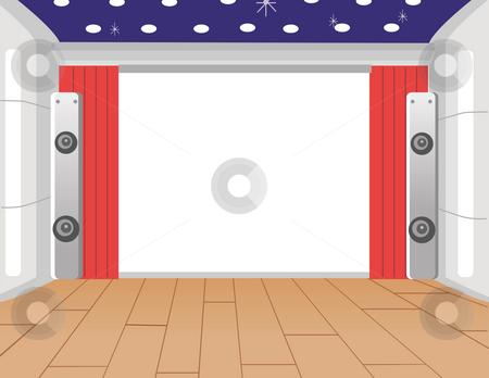 Indoor Stage stock photo, Modern indoor stage with the  floor acoustics by Su Li