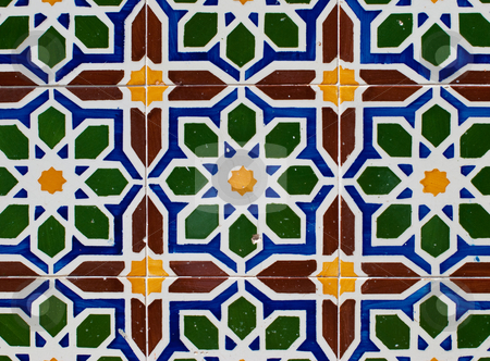 Portuguese glazed tiles 220 stock photo, Detail of Portuguese glazed tiles. by Homydesign