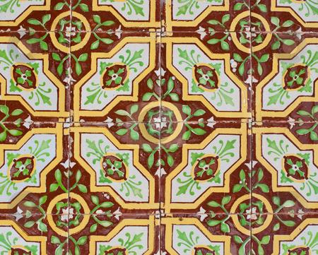 Portuguese glazed tiles 221 stock photo, Detail of Portuguese glazed tiles. by Homydesign