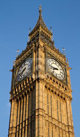 Big Ben stock photo, Big Ben in the evening, London, England by Juergen Schonnop