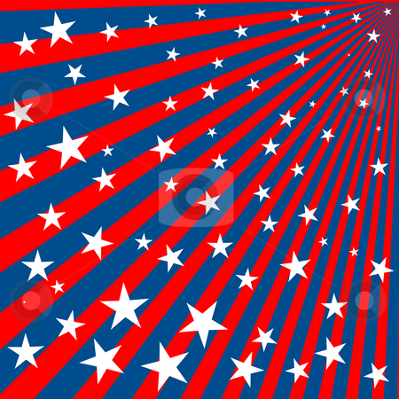 Stars and stripes stock photo, Background with stars and stripes for 4th of july by Richard Laschon