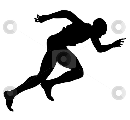 Runner stock photo, Silhouette of a runner by Richard Laschon
