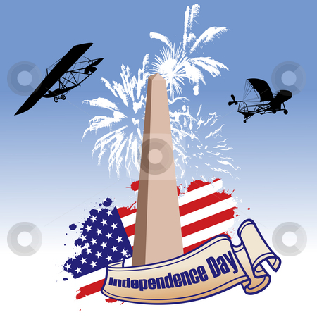 Independence day illustrated stock photo, Independence day illustrated by Richard Laschon