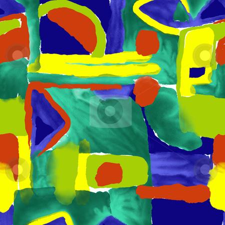 Geometric backdrop stock photo, Illustration drawing of beautiful and colourful geometry pattern by Su Li
