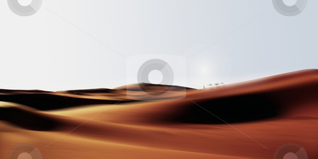 Dried spaces stock photo, Caravan in the desert by Dan Lavric
