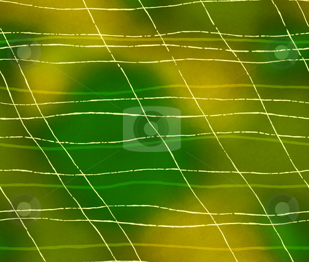 Green abstract background stock photo, Yellow broken lines in a fluorescence background by Su Li