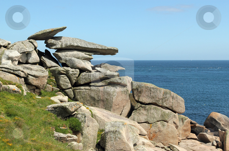 Pulpit rock, St. Mary's Isles of Scilly, Cornwall UK. stock photo, Pulpit rock, St. Mary's Isles of Scilly, Cornwall UK. by Stephen Rees