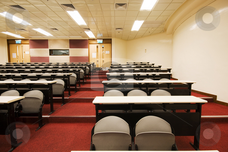 Leacture room with many chairs. stock photo, Leacture room with many chairs. by Keng po Leung
