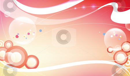 Abstract curve background stock photo, Illustration drawing of white curve in a red background by Su Li