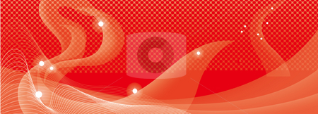Abstract red curves background stock photo, Drawing of red and white curves in a orange background by Su Li