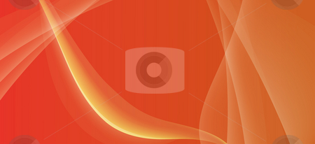 Abstract curve background stock photo, Drawing of beautiful orange curves in a red background by Su Li