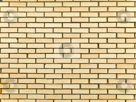 Brick background stock photo, Photo of yellow brick background by Sergej Razvodovskij
