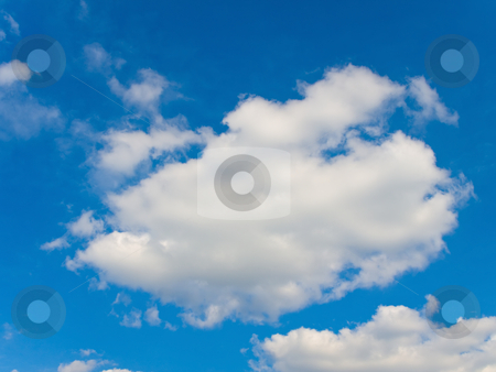 Blue sky stock photo, Blue cloudy sky background by Sergej Razvodovskij