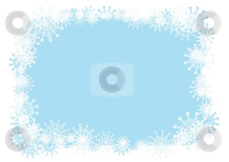 Winter frame stock vector clipart, Vector winter frame for your season's design. by Claudiu Badea