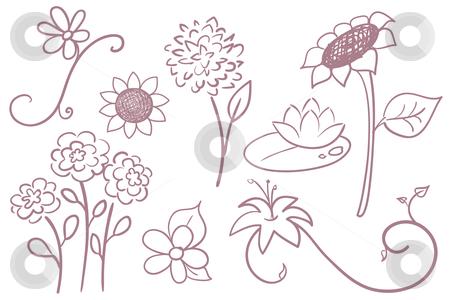 Doodle Flowers stock vector